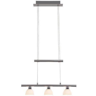 Brilliant Tonja LED Pendelleuchte 3flg chrom/weiß grau/weiß