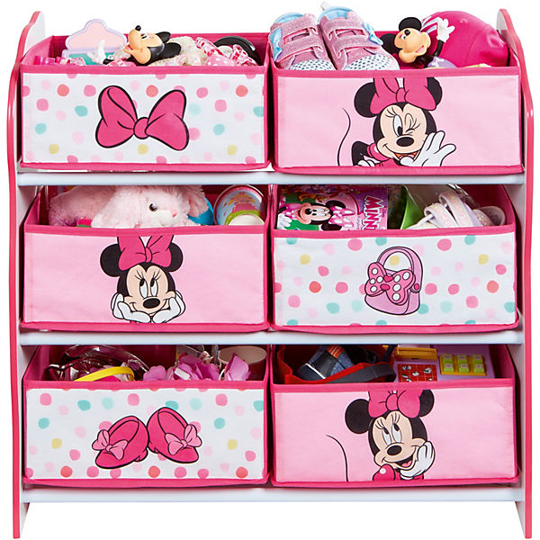 6 Boxen Regal Minnie Mouse Rosaweiß Rosa Disney Minnie Mouse