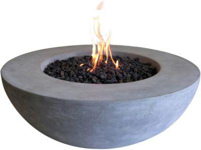 Gas Feuerstelle aus Faserbeton H39,5 cm grau | Garten > Grill und Zubehör > Feürstellen | yomonda