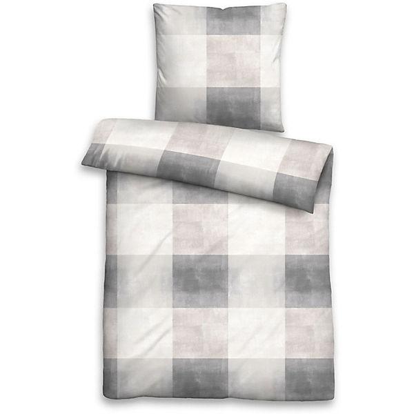 linon bettw sche karo grau yomonda. Black Bedroom Furniture Sets. Home Design Ideas