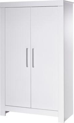 Kleiderschrank Nordic White, 2-türig, weiß lackiert