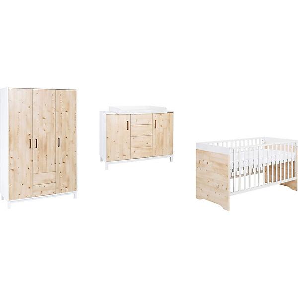 Kinderzimmer Milano Pinie | Komplett Kinderzimmer Timber Pinie 3 Tlg Kombi Kinderbett 70 X 140