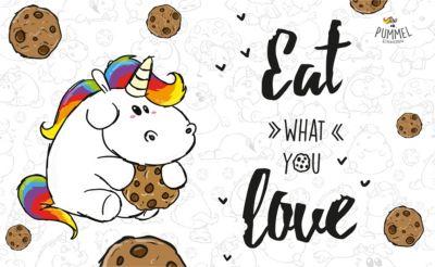 Frühstücksbrettchen Pummeleinhorn - Eat what yo...