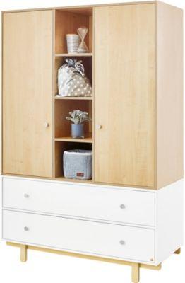 Pinolino Kleiderschrank Boks, 2-türig, weiß lackiert