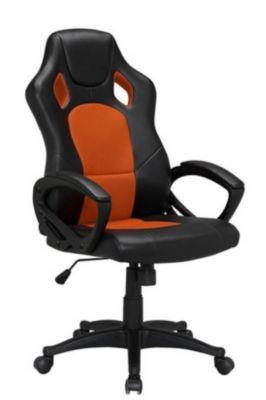 XL Chefsessel bis 160 kg belastbar orange feinstes Kunstleder Bürostuhl günstig