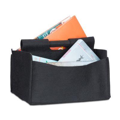 Filz Zeitschriften-Korb schwarz