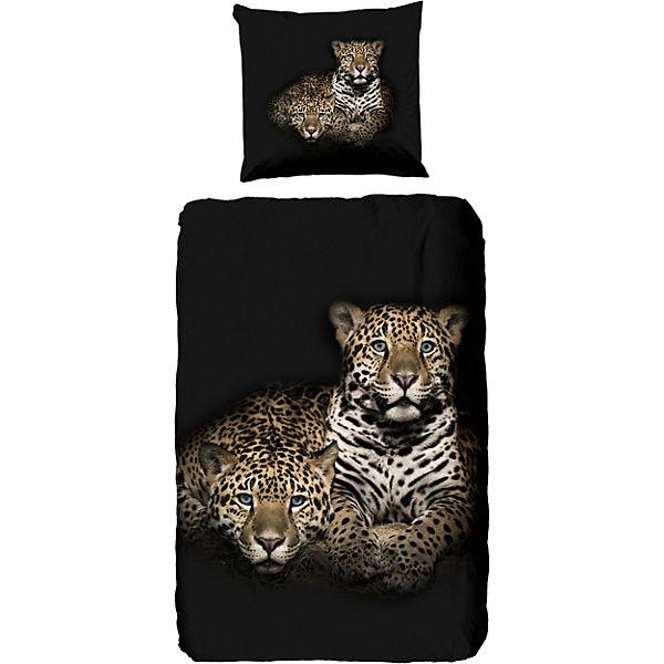 Bettwäsche Leopard Schwarz Good Morning Bedlinens Yomonda