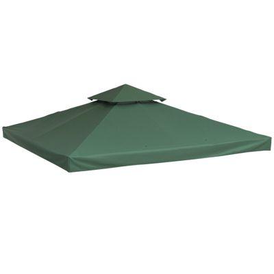 Outsunny Ersatzdach Dach Metallpavillon grün Erwachsene