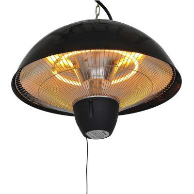 Outsunny Elektrischer Infrarot Deckenheizstrahler mit Zugseil schwarz | Garten > Feuer und Heizstrahler | Metall - Kunststoff | Outsunny