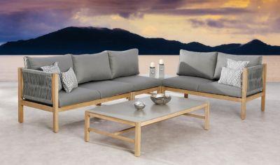 5-tlg. Lounge Gruppe hellgrau