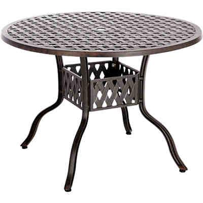 Gusseisen Gartentisch.Gusseisen Gartentisch ø106 Cm Bronze Best Freizeitmöbel