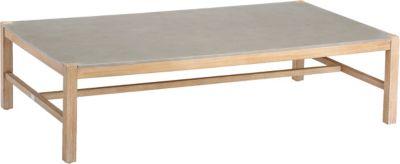 Best Freizeitmöbel Gartentisch mit Betonplatte 140x80cm hellgrau