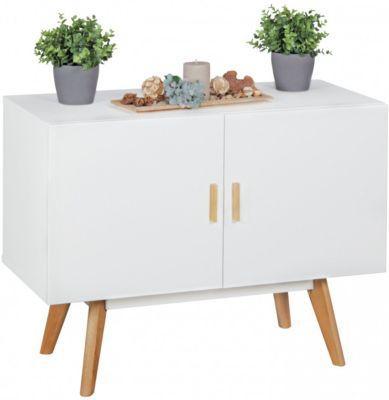 Sideboard ´´Kolimi´´ mit 2 Türen 90x40x70 cm weiß