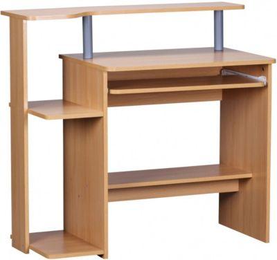 Computertisch mit Ablage 94 cm beige