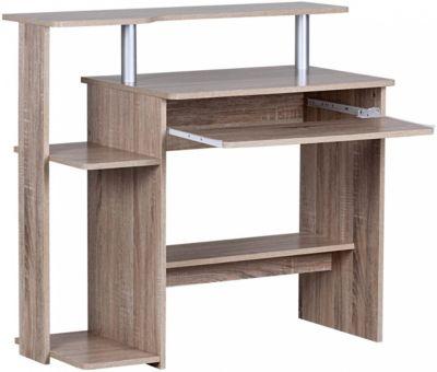 Sonoma Computertisch mit Ablage 94 cm braun
