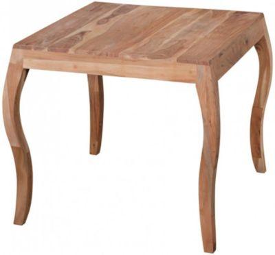 Akazie Massivholz Esstisch ´´Opium´´ 80x80 cm beige