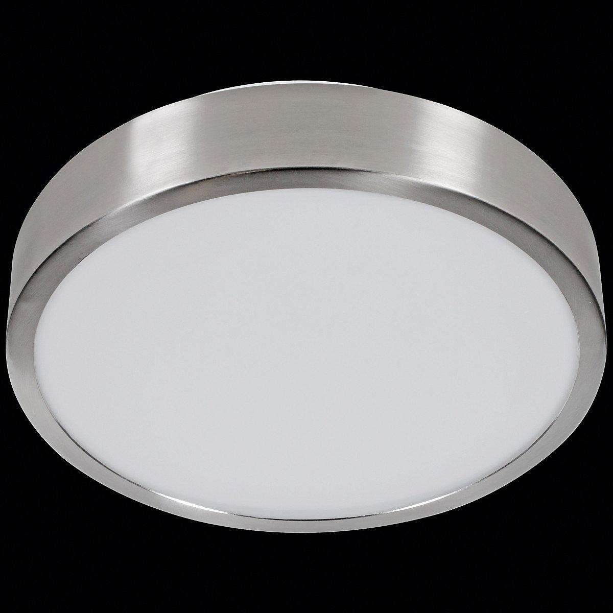 LED Deckenleuchte rund 1 flammig, silber, WOHNLING   yomonda