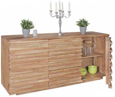 Akazie Massivholz Sideboard 160x45x75 cm beige