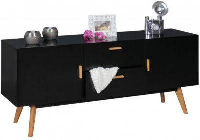 Sideboard ´´Kolimi´´ mit 2 Türen & 2 Schubladen 160x42x70 cm schwarz