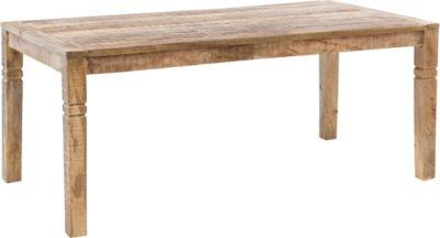 WOHNLING Esszimmertisch in 3 verschiedenen Größen Mango Massivholz Landhaus Esstisch Esszimmer Holztisch mehrfarbig Gr. 70 x 120