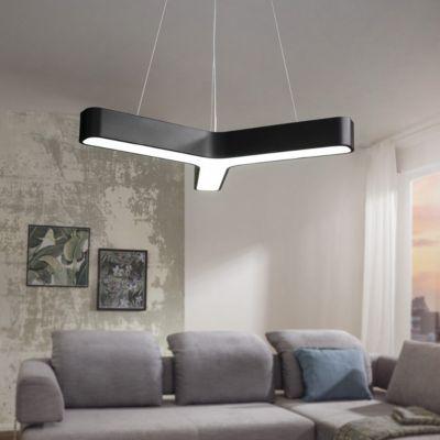 LED Office Pendelleuchte Y-Form 3060 Lumen kaltweiß schwarz