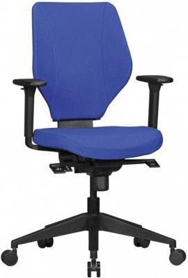 AMSTYLE Bürostuhl COLLIN Stoffbezug Schreibtischstuhl mit Synchromechanik Drehstuhl Drehsessel 120 kg blau