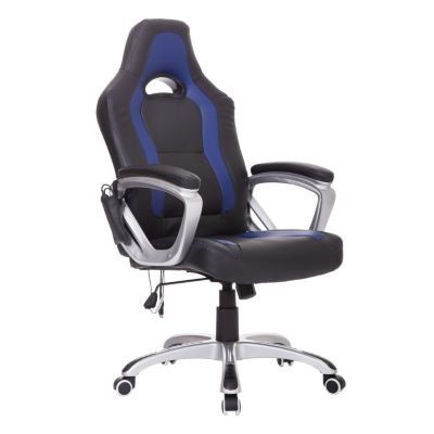 Bürosessel mit Massage/- Wärmefunktion blau