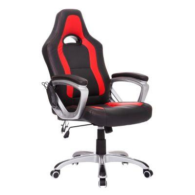 Bürosessel mit Massage/- Wärmefunktion schwarz/rot