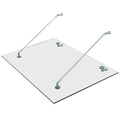 HOMCOM Türvordach transparent   Baumarkt > Modernisieren und Baün > Vordächer   HOMCOM