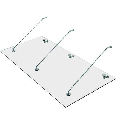 HOMCOM Glasvordach transparent   Baumarkt > Modernisieren und Baün > Vordächer   HOMCOM