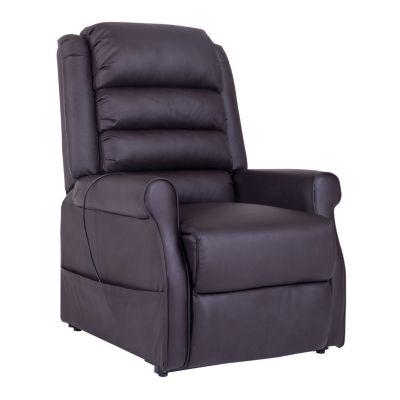 Elektrischer Sessel mit Aufstehhilfe und Heizfunktion braun