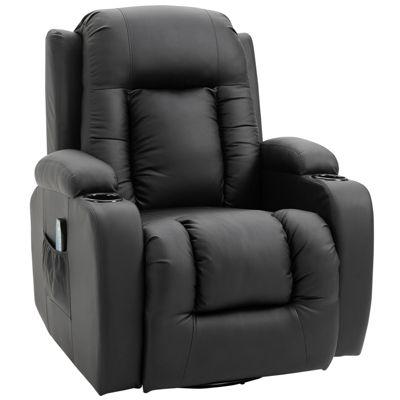 Fernseh-Sessel mit Wärmefunktion schwarz