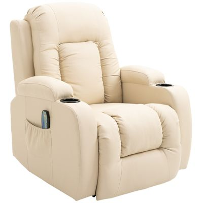 Fernseh-Sessel mit Wärmefunktion creme