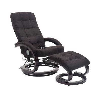 HOMCOM Massagesessel mit Wärmefunktion schwarz