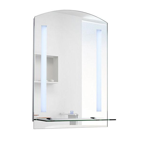 LED Wand Spiegel Mit Ablage 50x70x4 Cm