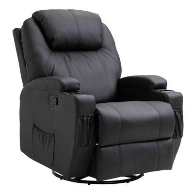 HOMCOM Fernseh-Sessel mit Massagefunktion schwarz
