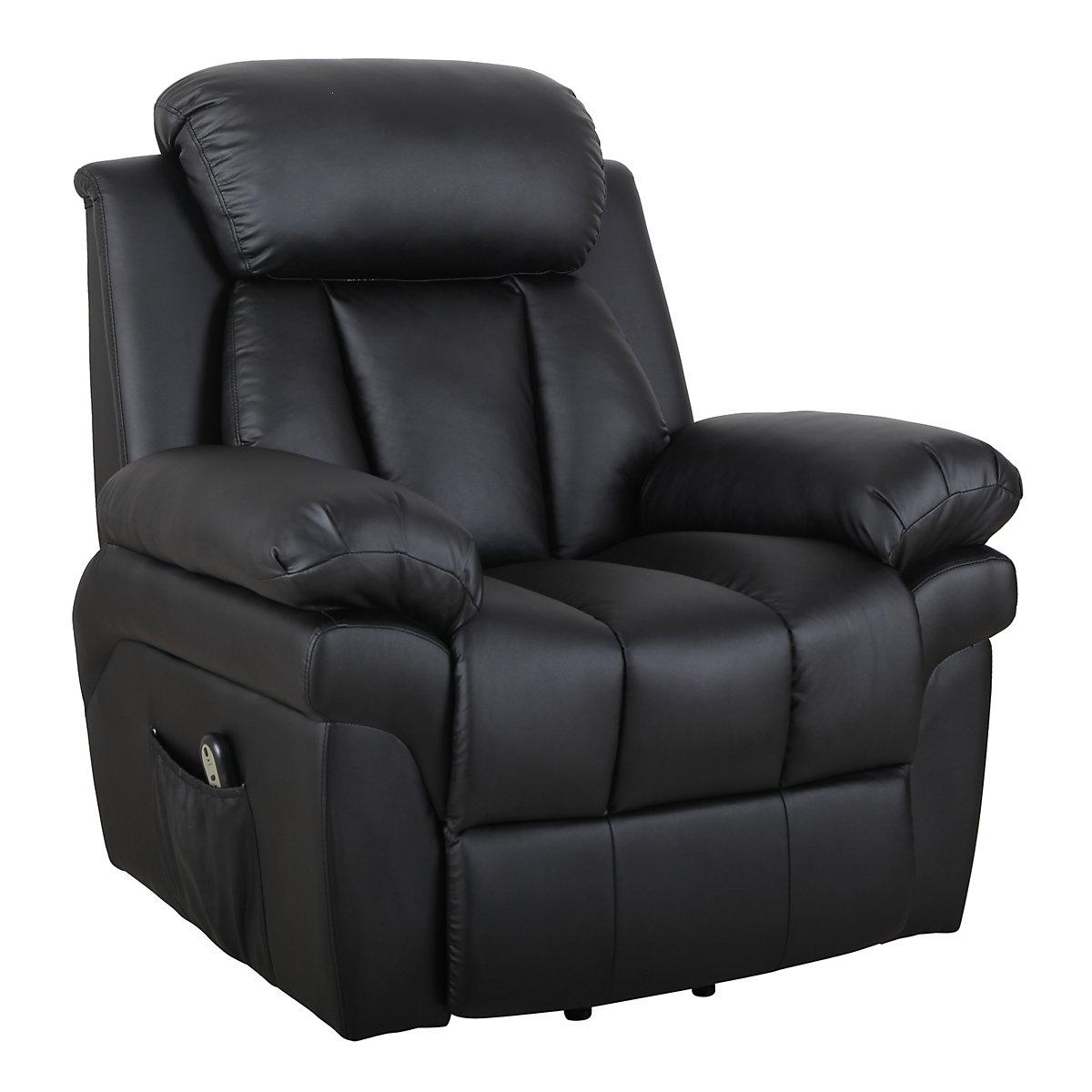 elektrischer fernsehsessel mit aufstehhilfe schwarz homcom yomonda. Black Bedroom Furniture Sets. Home Design Ideas