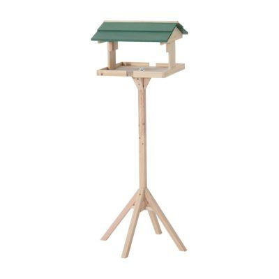 Vogel Futterhaus mit Ständer natur