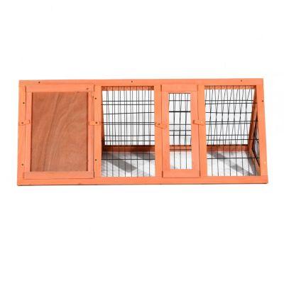 PawHut Holz Kaninchenstall mit Freilaufgehege natur | Garten > Tiermöbel > Hasenställe-Kaninchenställe | Holz | PawHut