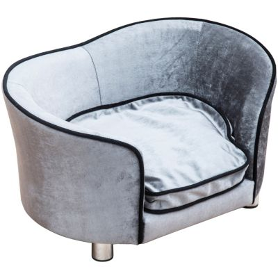 Hunde-Sofa hellgrau