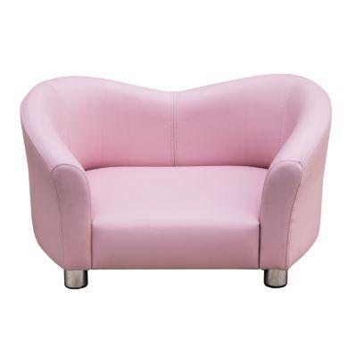 Kunstleder Hunde-Sofa rosa