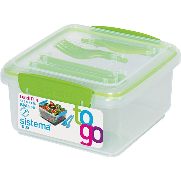 "Lunchbox ""To Go"" mit Besteck 1,2 l"