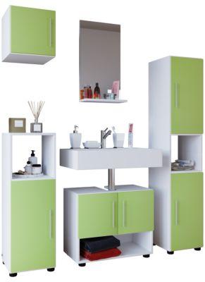 5tlg. Badmöbel-Set grün