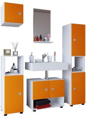5tlg. Badmöbel-Set orange