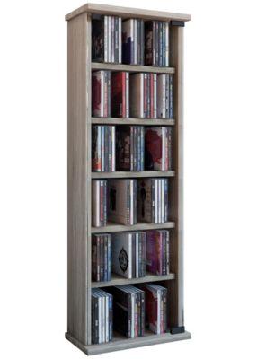 VCM Regal DVD CD Rack Medienregal Medienschrank Aufbewahrung Holzregal Standregal Möbel Bluray Möbel Vetro braun | Wohnzimmer > Regale > Einzelregale | VCM