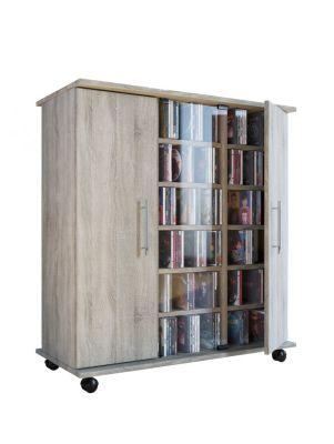 Sideboard ´´Luxor´´ mit Rollen und Türen 98x86x39 cm grau/braun