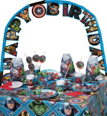 Partyset Marvel Avengers Mighty, 56-tlg. mehrfa...
