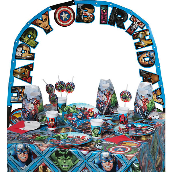 Partyset Marvel Avengers Mighty, 56-tlg.