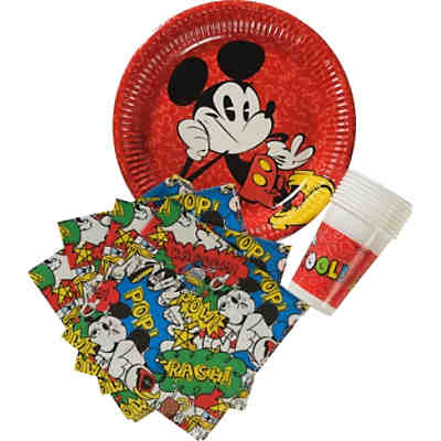 Partyset Mickey Mouse Super Cool, 36-tlg.