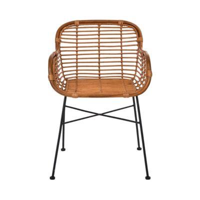 BUTLERS HACIENDA Rattan-Sessel mit Armlehnen Sessel braun